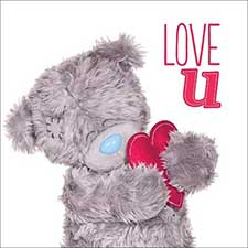 3D Holographic Love U Me to You Bear Valentines Day Card