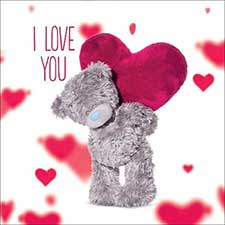 3D Holographic I Love You Me to You Bear Valentines Day Card