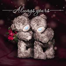 3D Holographic Always Yours Me to You Valentine's Day Card