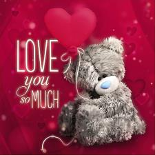 3D Holographic Love You Me to You Valentines Day Card