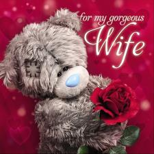 3D Holographic Wife Square Me to You Valentines Day Card