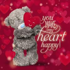3D Holographic Holding Heart Me to You Bear Valentines Day Card