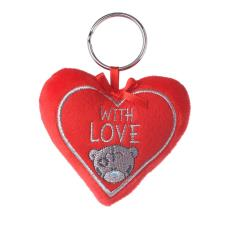 With Love Padded Heart Me to You Bear Key Ring