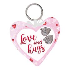 Love and Hugs Padded Heart Me to You Bear Key Ring