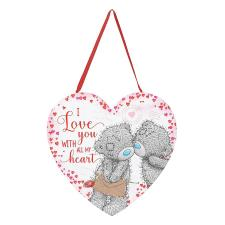 I Love You With All My Heart Me to You Heart Plaque