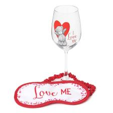 Wine Glass & Eye Mask Me To You Bear Gift Set