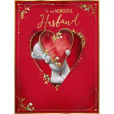Wonderful Husband Large Me to You Bear Valentine's Day Card