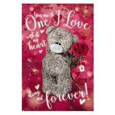 3D Holographic One I Love Me to You Bear Valentines Day Card