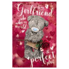 3D Holographic Girlfriend Me to You Bear Valentines Day Card