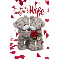 3D Holographic Gorgeous Wife Me to You Bear Valentine's Day Card