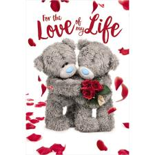 3D Holographic Love Of My Life Me to You Bear Valentine's Day Card