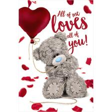 3D Holographic All Of Me to You Bear Valentine's Day Card