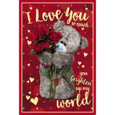 3D Holographic Love You Me to You Valentine's Day Card