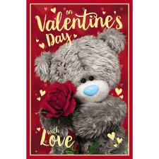 3D Holographic Holding Rose Me to You Valentine's Day Card