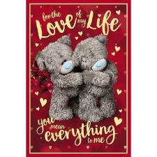 3D Holographic Love Of My Life Me to You Valentine's Day Card
