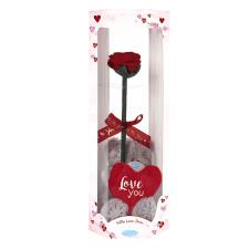 "4"" Love You Me to You Bear & Rose Gift Set"