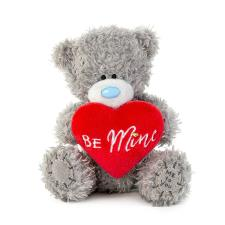 "4"" Be Mine Padded Heart Me to You Bear"