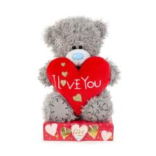 "7"" I Love You Padded Heart Me to You Bear"