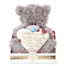 "9"" Girlfriend Padded Love Heart Verse Me to You Bear"