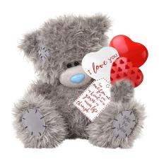 "12"" Holding Love You Balloons Me to You Bear"