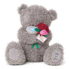 "24"" Love Of My Life Holding Rose Me To You Bear"