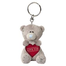 "3"" Padded Love You Heart Me To You Plush Key Ring"