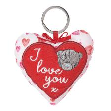 I Love You Padded Heart Me to You Bear Key Ring