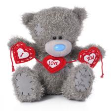 "10"" I Love You Heart Bunting Me to You Bear"