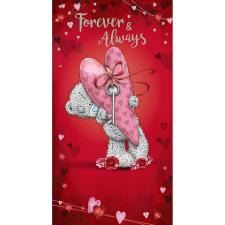 Forever & Always Me to You Bear Valentine's Day Card