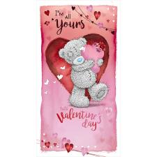 Holding Heart Cushion Me to You Bear Valentine's Day Card