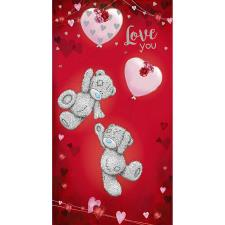 Tatty Teddy With Heart Balloons Me to You Valentine's Day Card