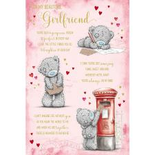 Beautiful Girlfriend Poem Me to You Bear Valentines Day Card