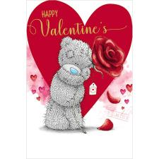 Tatty Teddy Holding Large Rose Me to You Bear Valentines Day Card