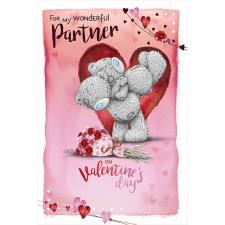 Wonderful Partner Me to You Bear Valentine's Day Card