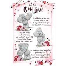 One I Love Poem Me to You Bear Valentine's Day Card