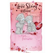 Tatty Teddy Sat On Bench Me to You Bear Valentine's Day Card