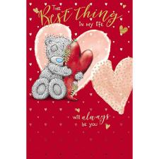Bear Hugging Love Heart Me to You Bear Valentine's Day Card