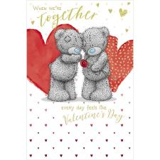 Bear Giving Single Rose Me to You Bear Valentine's Day Card