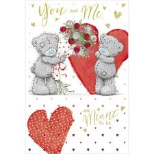Meant To Be Me to You Bear Valentine's Day Card
