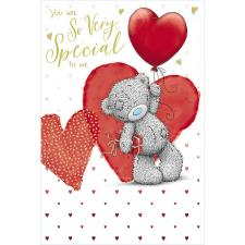 Bear With Balloon & Present Me to You Bear Valentine's Day Card