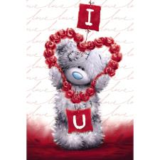 Tatty Teddy Holding Flower Heart Me to You Bear Valentines Day Card