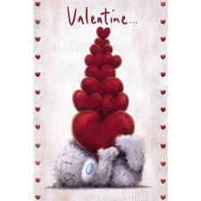 Stack Of Hearts Me to You Bear Valentine's Day Card