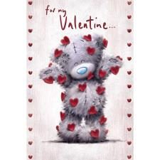 Falling Hearts Me to You Bear Valentine's Day Card