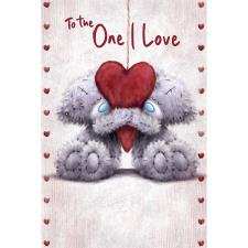 One I Love Softly Drawn Me to You Bear Valentine's Day Card