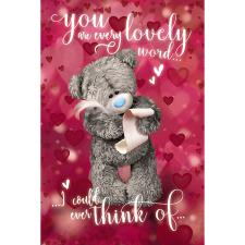 Writing Love Letter Me to You Bear Valentines Day Card