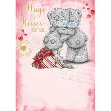 Hugs & Kisses Me to You Bear Valentines Day Card
