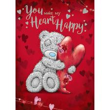 Hugging Heart Me to You Bear Valentine's Day Card
