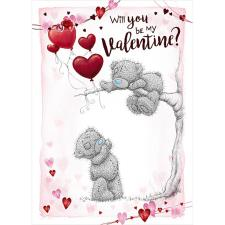 Will You Be My Valentine Me to You Bear Valentine's Day Card