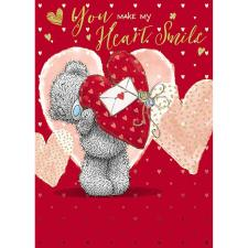 Make My Heart Smile Me to You Bear Valentine's Day Card