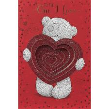 One I Love Pop Up Heart Me to You Bear Valentines Day Card